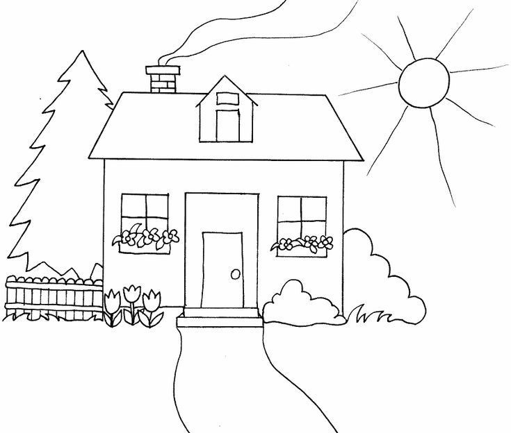 Kids Will Love These Free Springtime Coloring Pages House Colouring Pages Shape Coloring Pages Coloring Pages