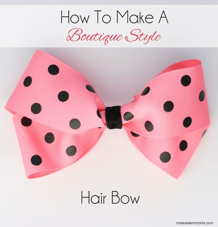 How To Make A Boutique Style Hair Bow Diy Hair Bows Easy Hair Bows Hair Bows