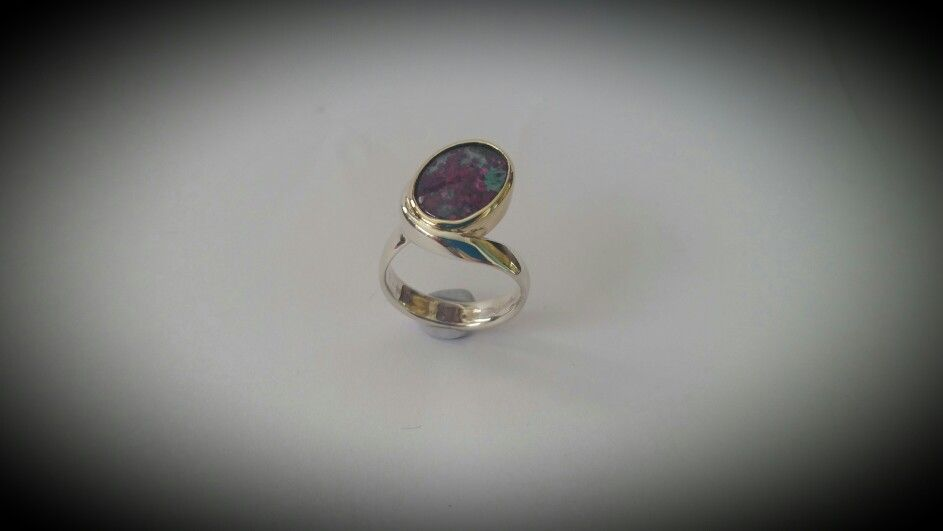 Handmade with multi gem in 9th and silver by Karen sherman