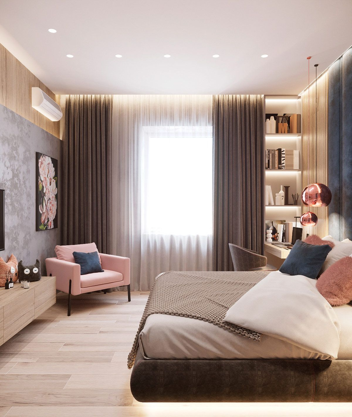 First Class Family Home With Blue Pink And Gold Decor Home Room Design Luxurious Bedrooms Bedroom Decor
