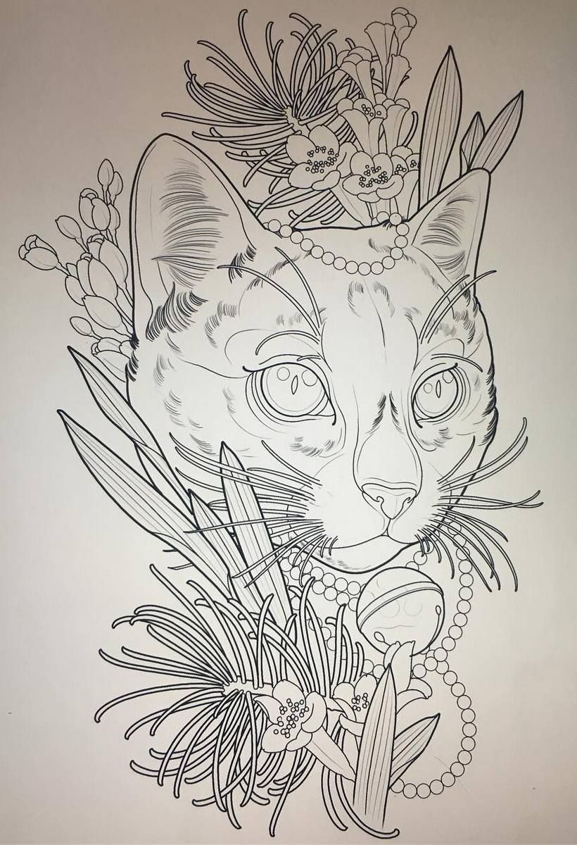 Cat Tattoo Design Cat Tattoo Designs Cat Tattoo Sleeve Tattoos