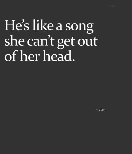 And The Song Is Stuck On Replay All Day Long Crush Quote Love