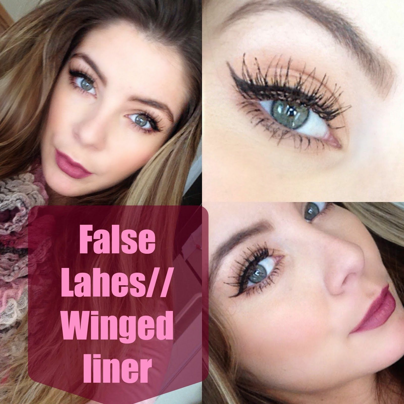 649ad77c1a4 How to Apply False Lashes and Winged Liner   Nikole DeBell Beauty  www.nikoledebellebeauty.com winged liner, false lashes, nyx wicked lashes,  nyx cosmetics ...