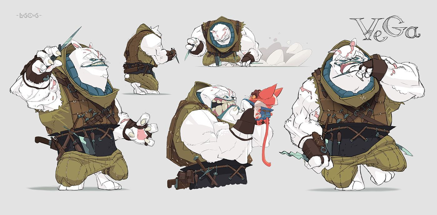 Luscus Characters Part 2 (concepts + speedpaints) on Behance