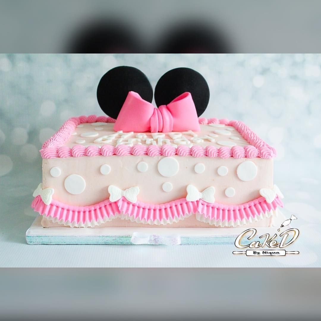 Minnie Mouse Buttercream Sheet Cake Minnie Mouse Birthday Cakes
