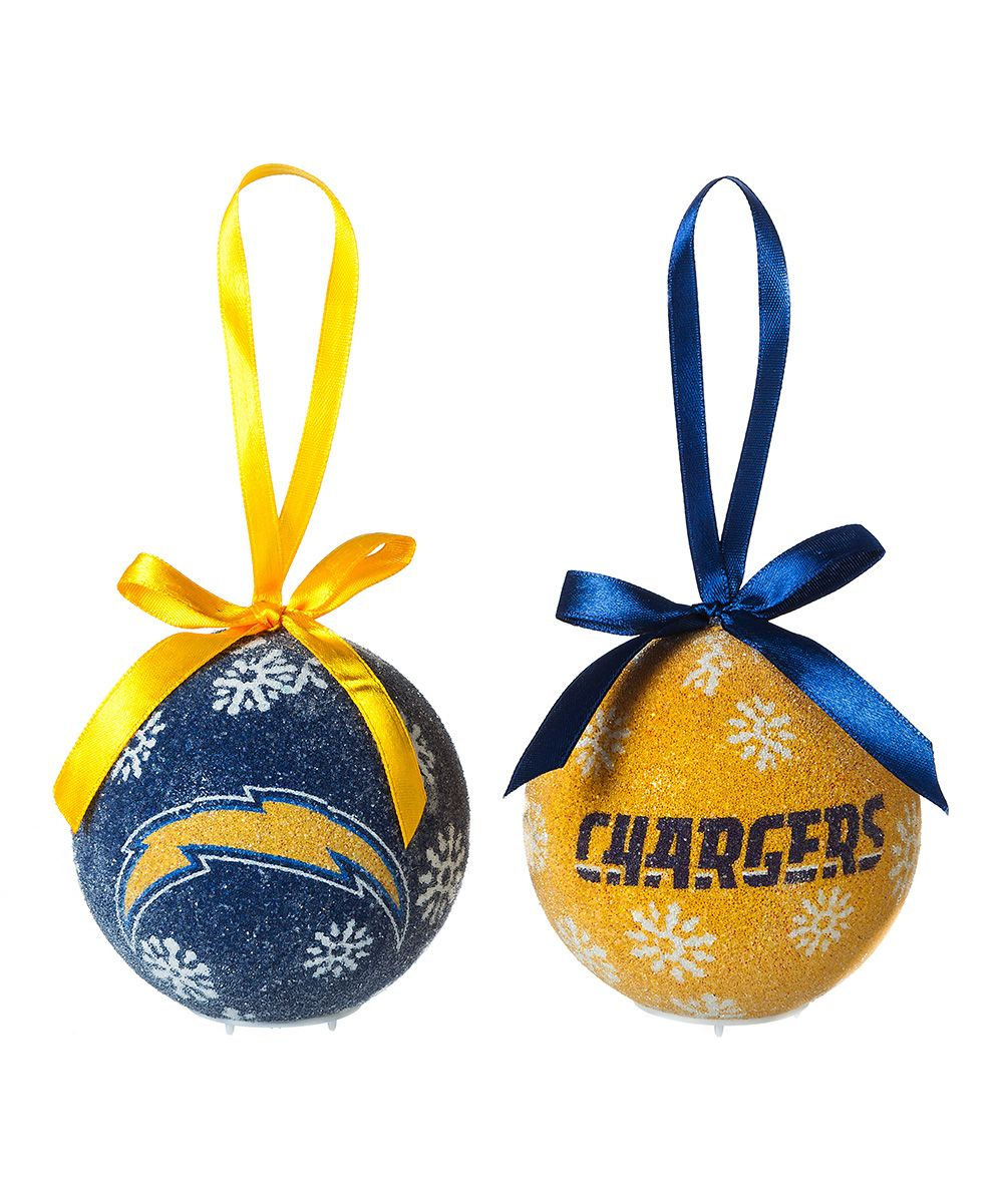 San Diego Chargers Christmas Ornaments: San Diego Chargers LED Ornament Set