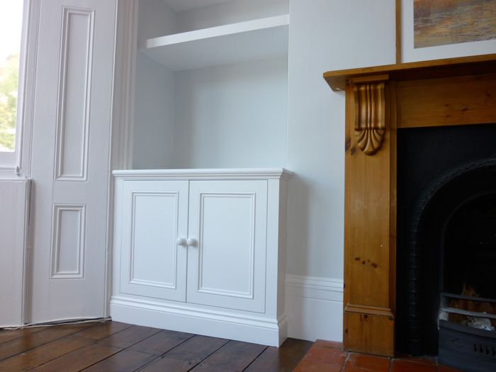 Built in alcove cupboard for lounge. Classic Victorian Style built in alcove cuboard   kewl kitchens