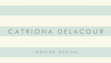 Chic ivory and mint green stripes pattern interior design business chic ivory and mint green stripes pattern interior design business cards httpwww reheart Gallery