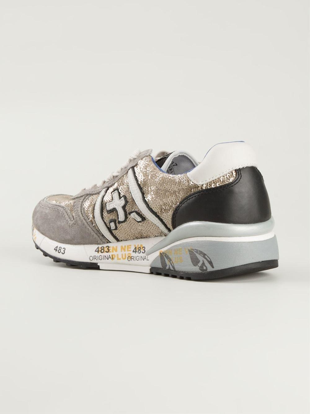 112c858c037 #premiata #sneakers #womens #sequins #golden #womenshoes #womensneakers  www.jofre.eu