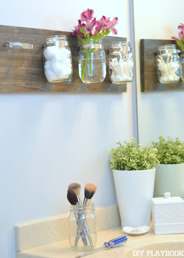 How To Clean Your Diy Mason Jar Organizer The Diy Playbook Mason Jar Organization Mason Jar Diy Mason Jars