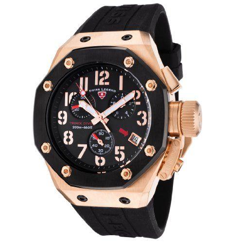 swiss legend men%27s 10541 rg 01 bb trimix diver collection swiss legend men%27s 10541 rg 01 bb trimix diver collection chronograph rubber watchesblack