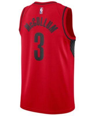Nike Men s C.j. McCollum Portland Trail Blazers Statement Swingman Jersey -  Red Black L 45fcf7d1d