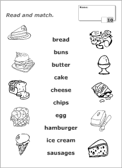 Image Result For Food Worksheets For Kindergarten Pdf