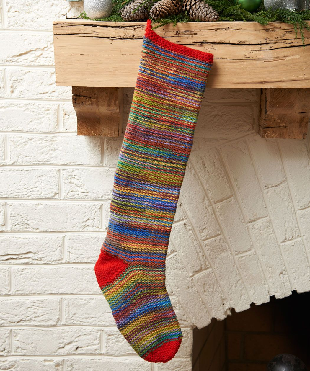 RED HEART® Keepsake Stocking #knit #pattern | Moore: Christmas ...