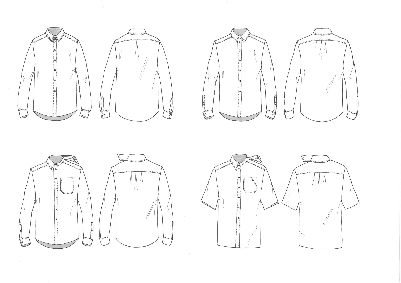 Design Development Shirt мужская техничка Fashion