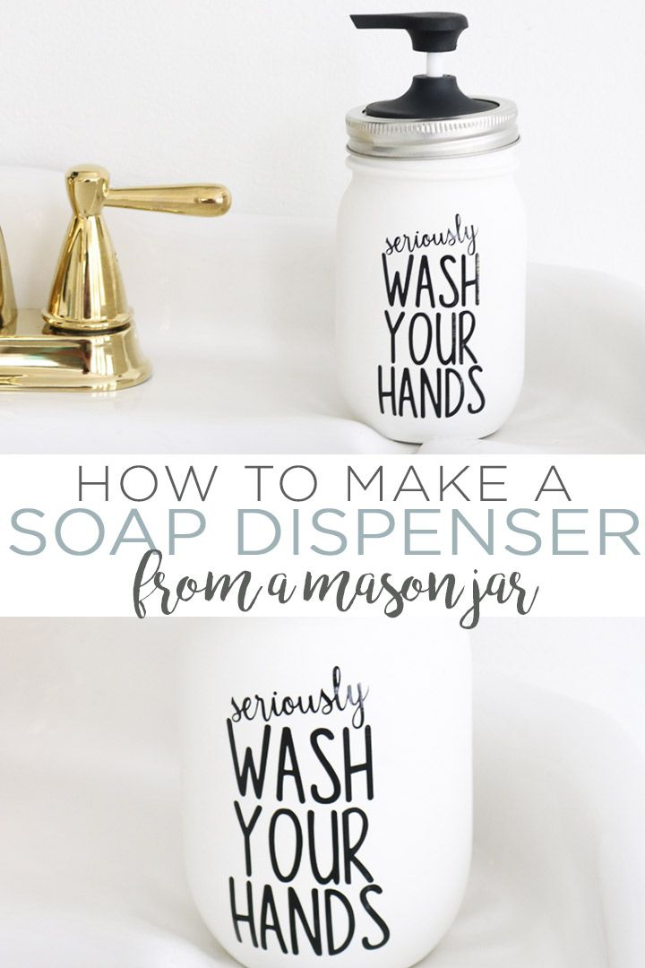 How to Make a Mason Jar Soap Dispenser - The Country Chic Cottage