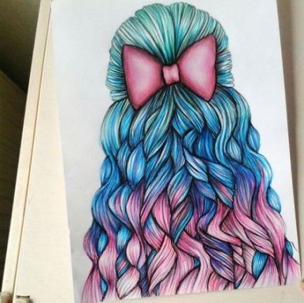 Photo of Trendy Drawing Hair Girl Pictures Ideas