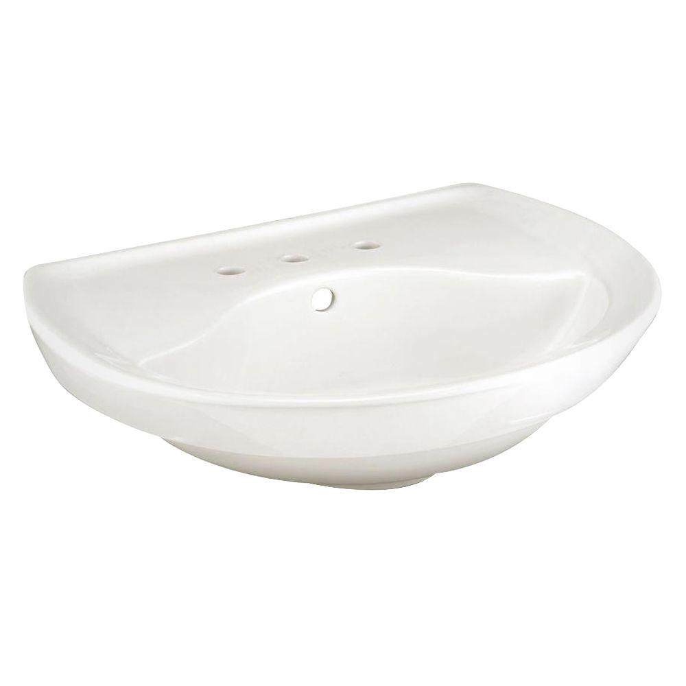 American Standard Ravenna 6 In Pedestal Sink Basin In White
