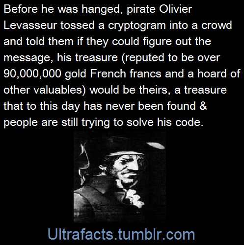 If you're a pirate and they are fixing to hang you, might as well send them on a wild goose chase ... for eternity!