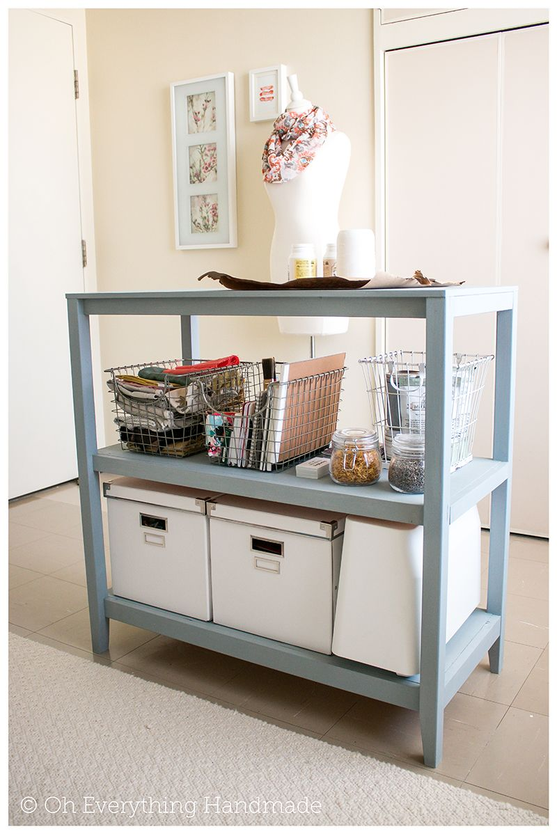 Craft Table Project incl. Building Plans via OhEverythingHandmade