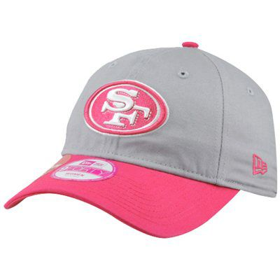 San Francisco 49ers Women/'s New Era 9FORTY NFL Breast Cancer Awareness Hat Cap