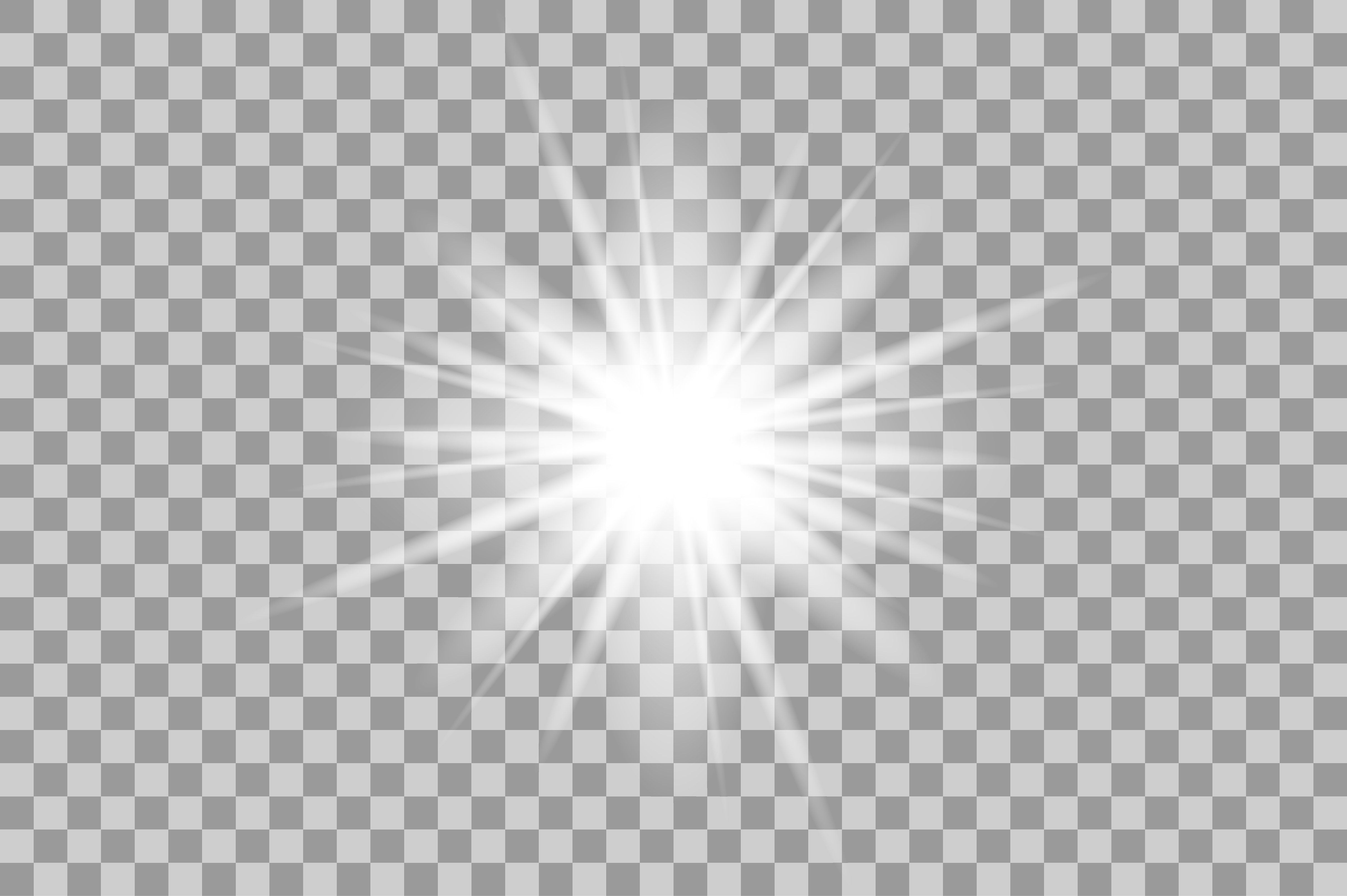 Vector White Light Effects Flash
