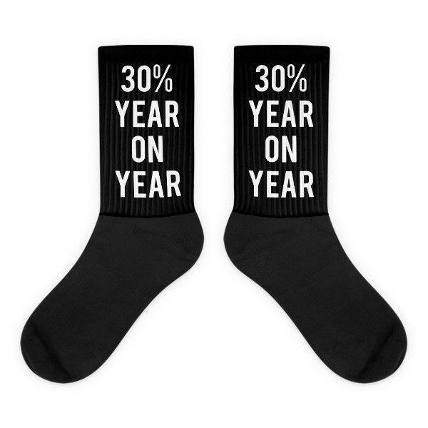 30% Year On Year