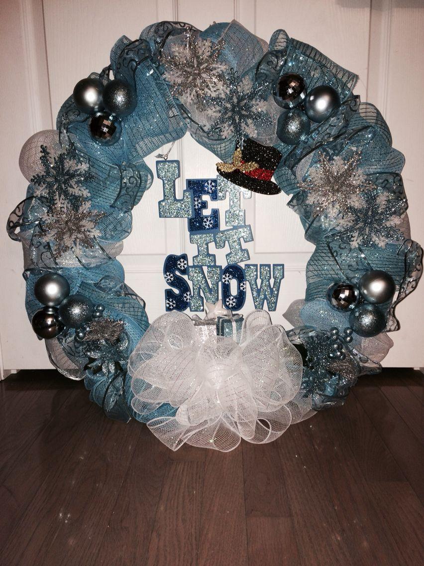 Deco mesh wreath. Fun and easy to make!