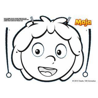 die biene maja maske zum selber ausmalen kostenlos zum download damit bist du auf der maja. Black Bedroom Furniture Sets. Home Design Ideas