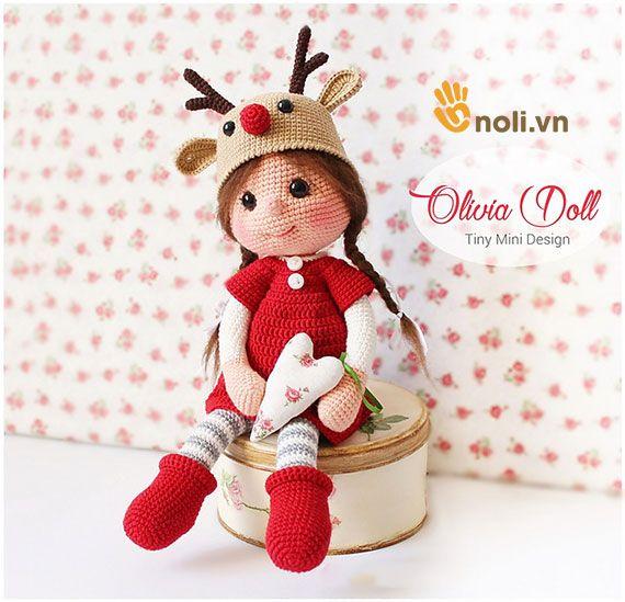 Chart móc búp bê tuần lộc Amigurumi Doll Olivia | free pattern ...