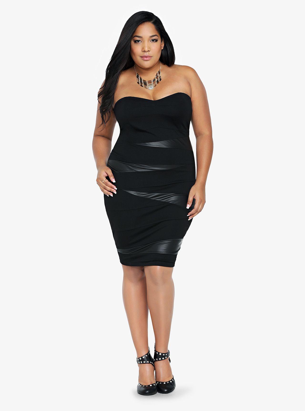 Lace dress torrid  Faux Leather Bodycon Dress Torrid   the look  Pinterest