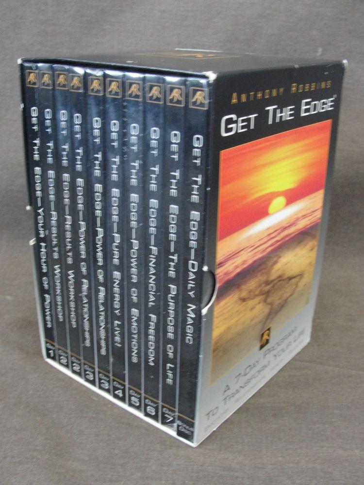 Anthony Robbins 7 Day Program GET THE EDGE 10 Disc Audio CD Book - tony robbins disc