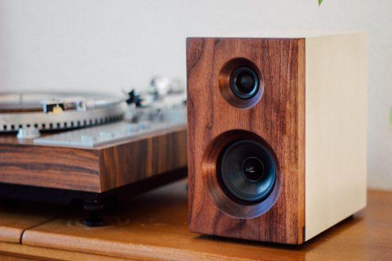 Walnut White Bookshelf Speakers Stereo Passive Speakers Fremont Set Of Two Speakers Wood Speakers Bookshelf Speakers Cool Bookshelves