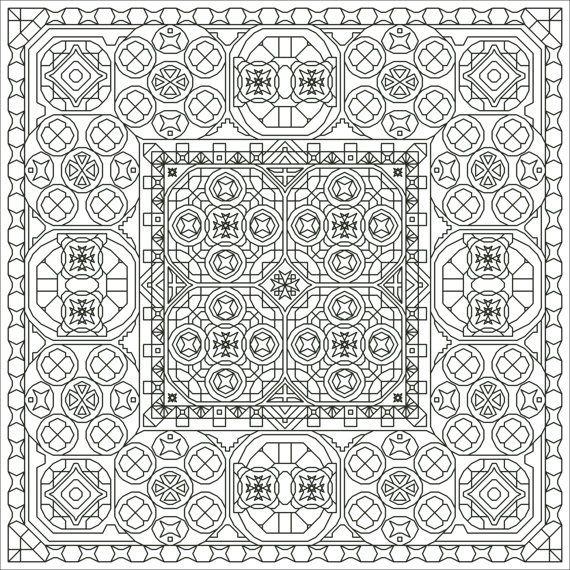 Gee Whiz Three Back Stitch Blackwork Style Pattern Instant Download