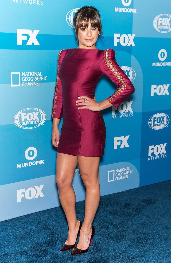 Pin for Later: Best Dressed: Die schönsten Looks der ganzen Woche Lea Michele in Zuhair Murad Lea Michele strahlte in einem kurzen, mit Reisverschlüssen verzierten Kleid bei einem Event für ihre neue TV-Serie Scream Queens in New York.