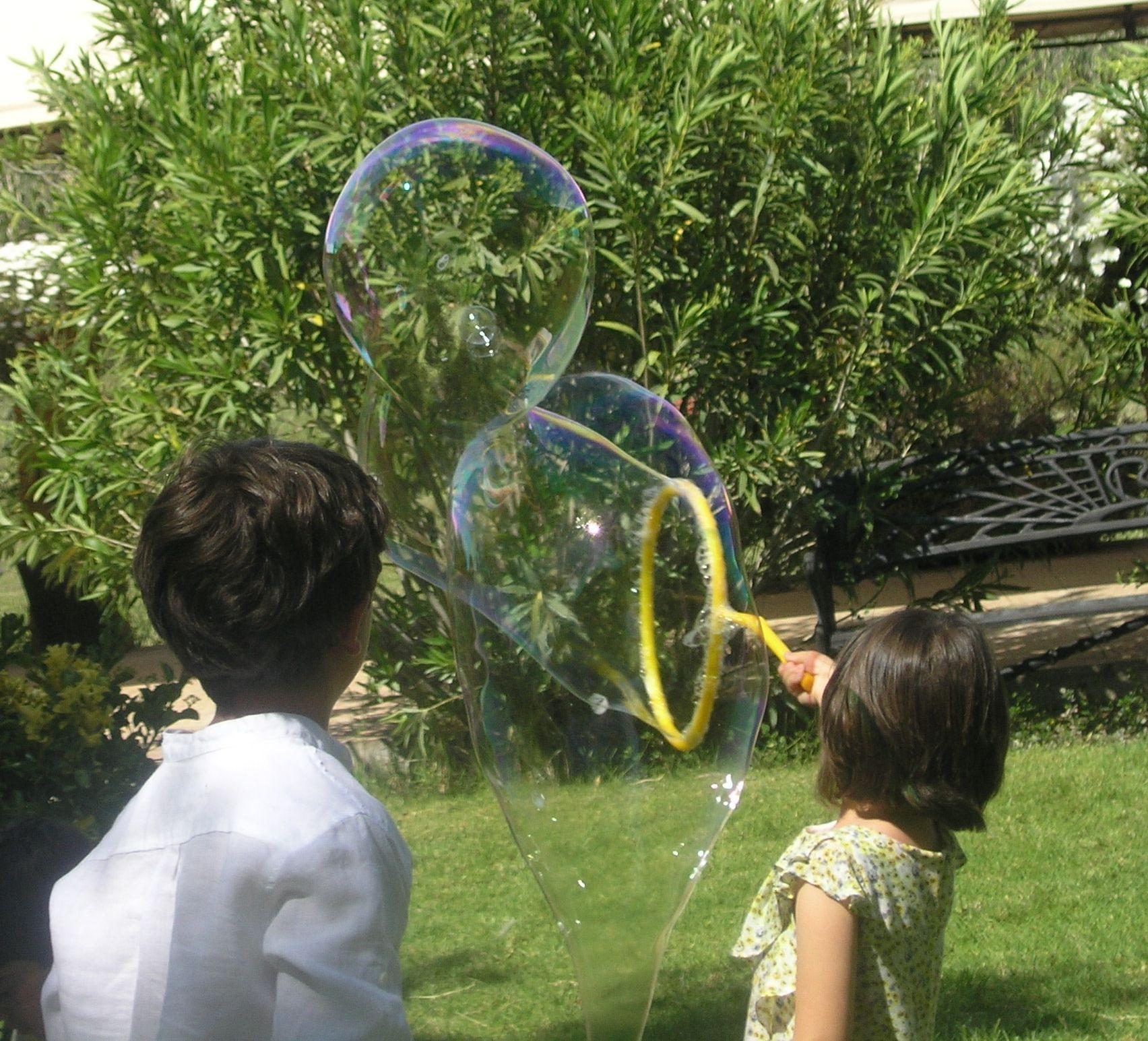 fiesta infantil de pompas d ejabon