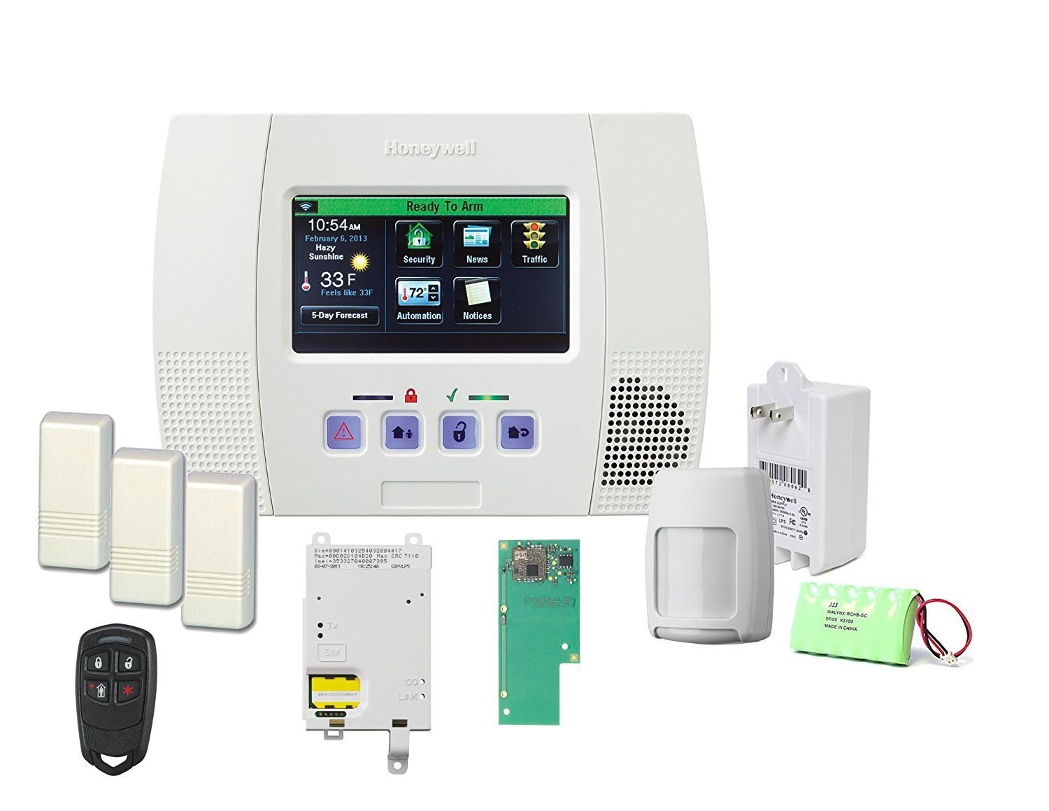 Honeywell lynx touch 5100 wireless alarm gsmvlp5 4g and zwave home honeywells lynx touch features a bright full color touchscreen with graphic icons and intuitive prompts for easier operation advanced alarm solutioingenieria Image collections