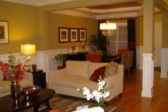 Open floor plan living dining kitchen combo as if the for Living room kitchen combo decorating ideas