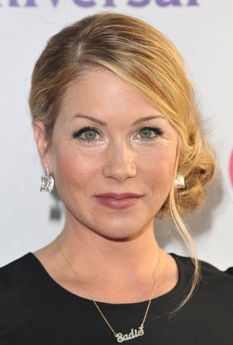 Cool Classic Low Side Bun Wedding Hairstyle Christina Applegate39S Low Short Hairstyles For Black Women Fulllsitofus