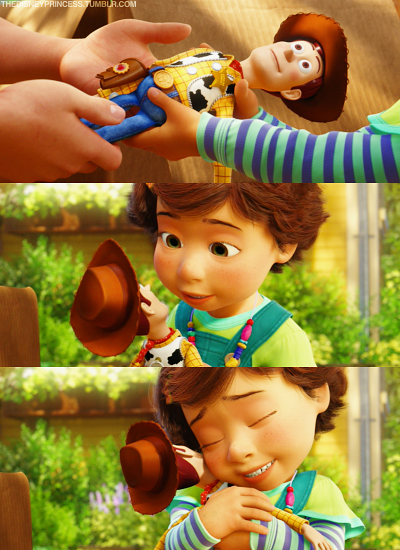 Bonnie being given Woody