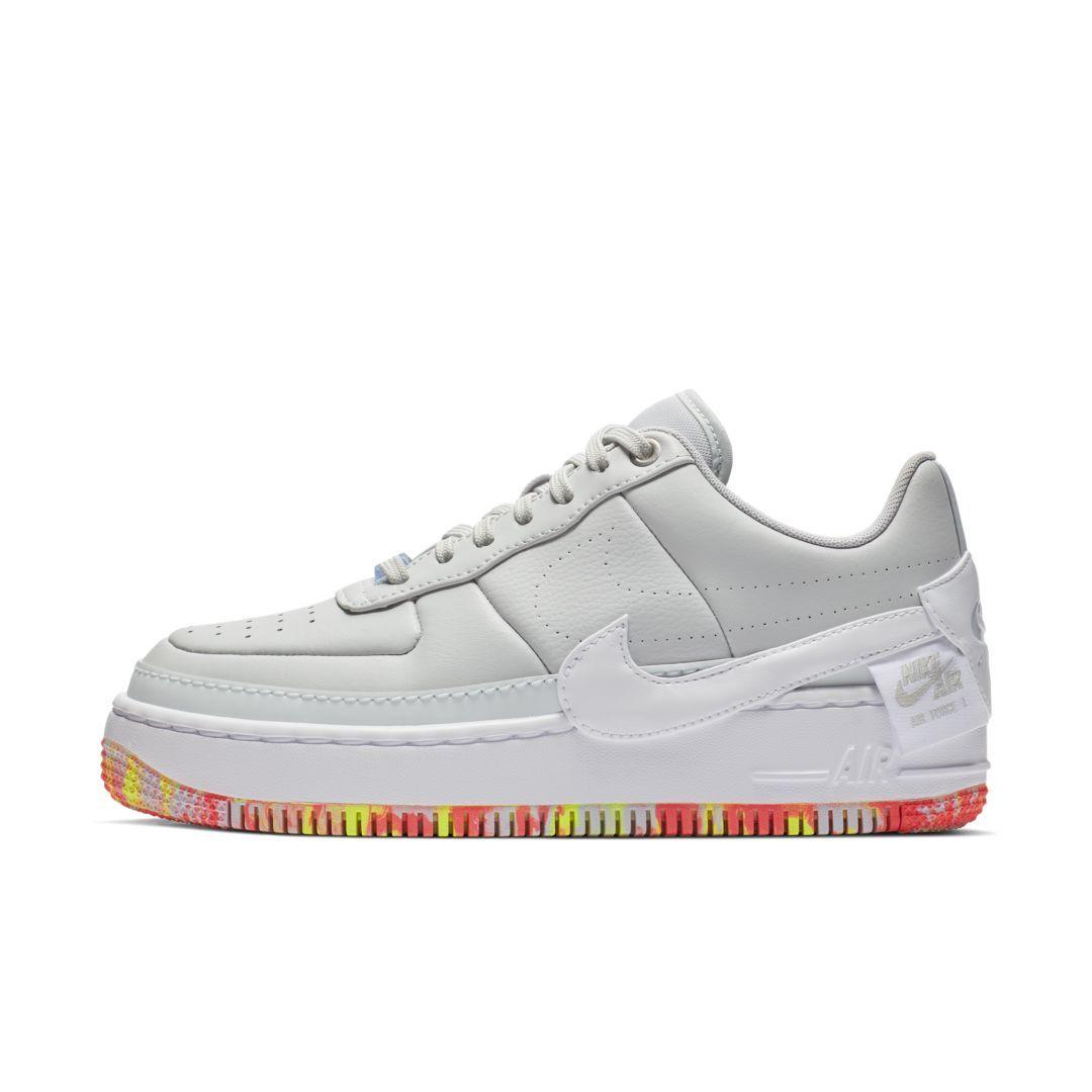 f47e880c6 Nike Air Force 1 Jester XX Print Women's Shoe Size 11.5 (Pure Platinum)