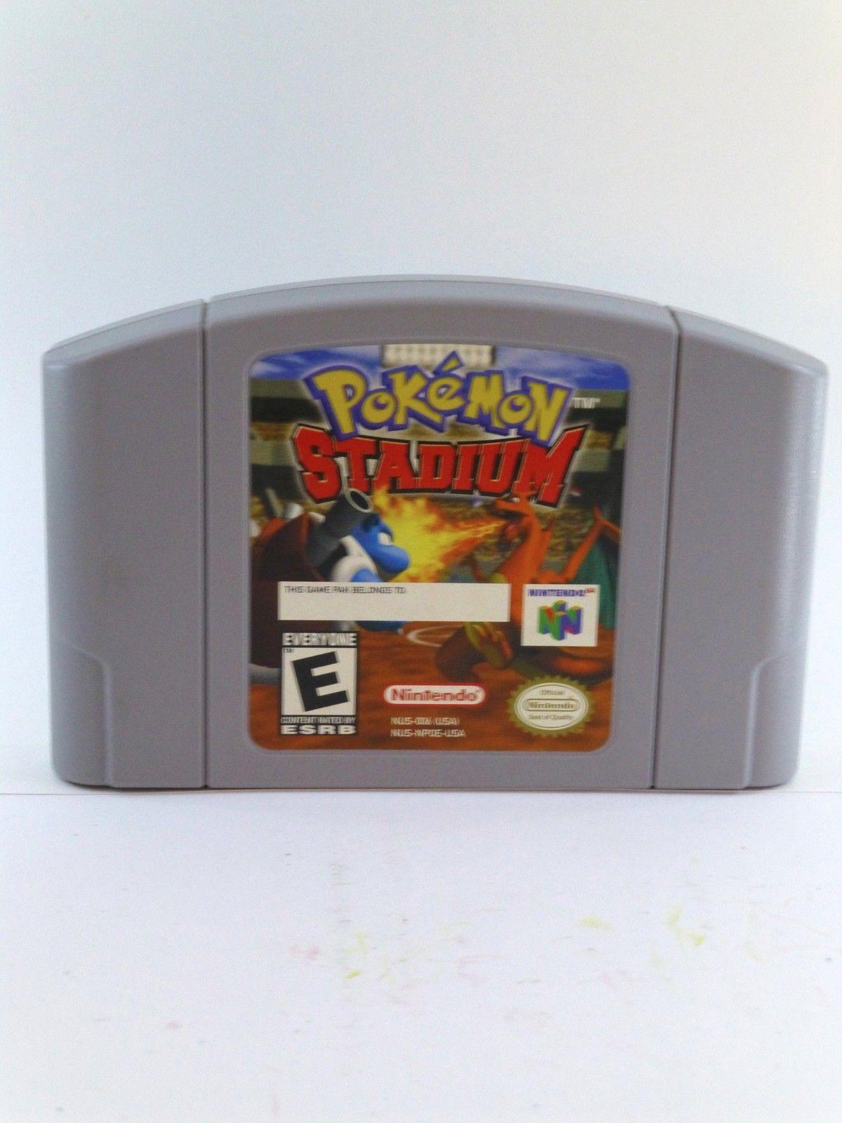 Pokemon Stadium (Nintendo 64, 2000) n64 with Gameboy