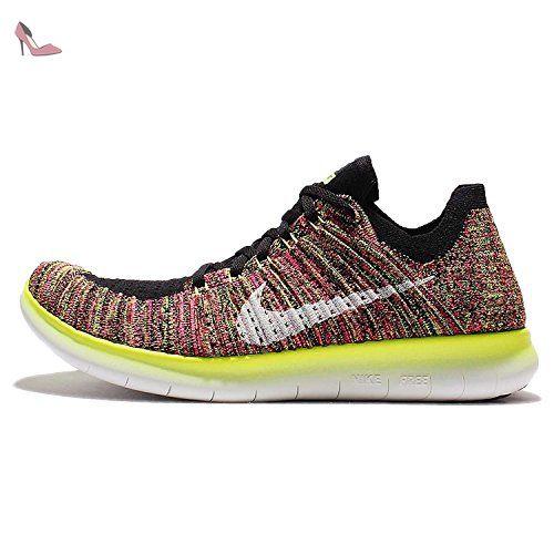 outlet store 61692 5d24c ... switzerland nike free rn flyknit oc chaussures de running homme noir  multicolore 45 c0b74 56c79