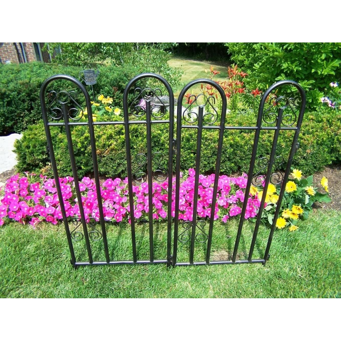 Oakland Living Corporation Extendable Garden Fence (Hammer Tone ...
