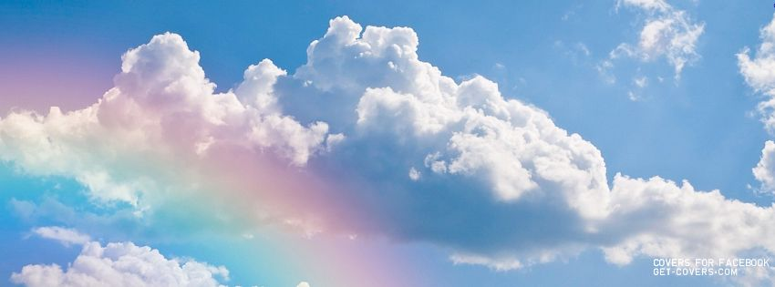 Rainbow In The Clouds Facebook Cover Capa Twitter Imagens Tumblrs