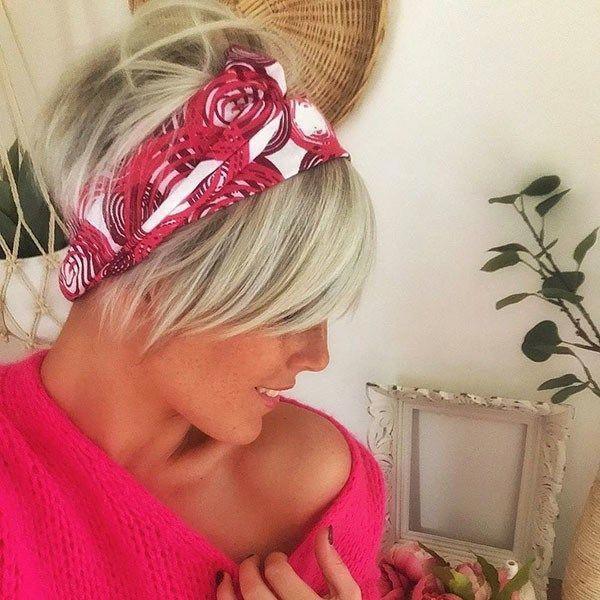 Pixie Hair with Headband New Cute Short Hairstyles  ...