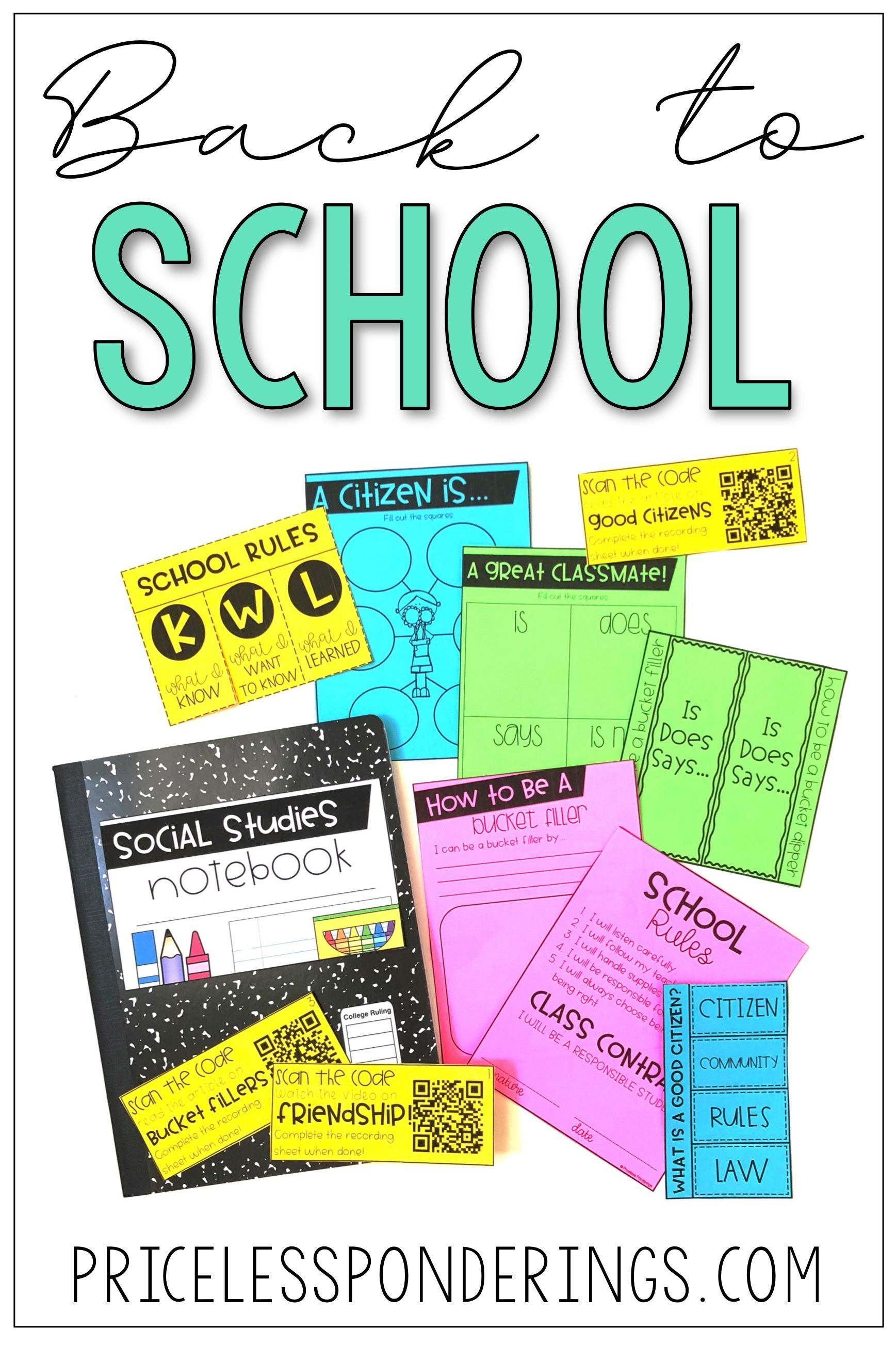 Back To School And School Rules Activities And Worksheets