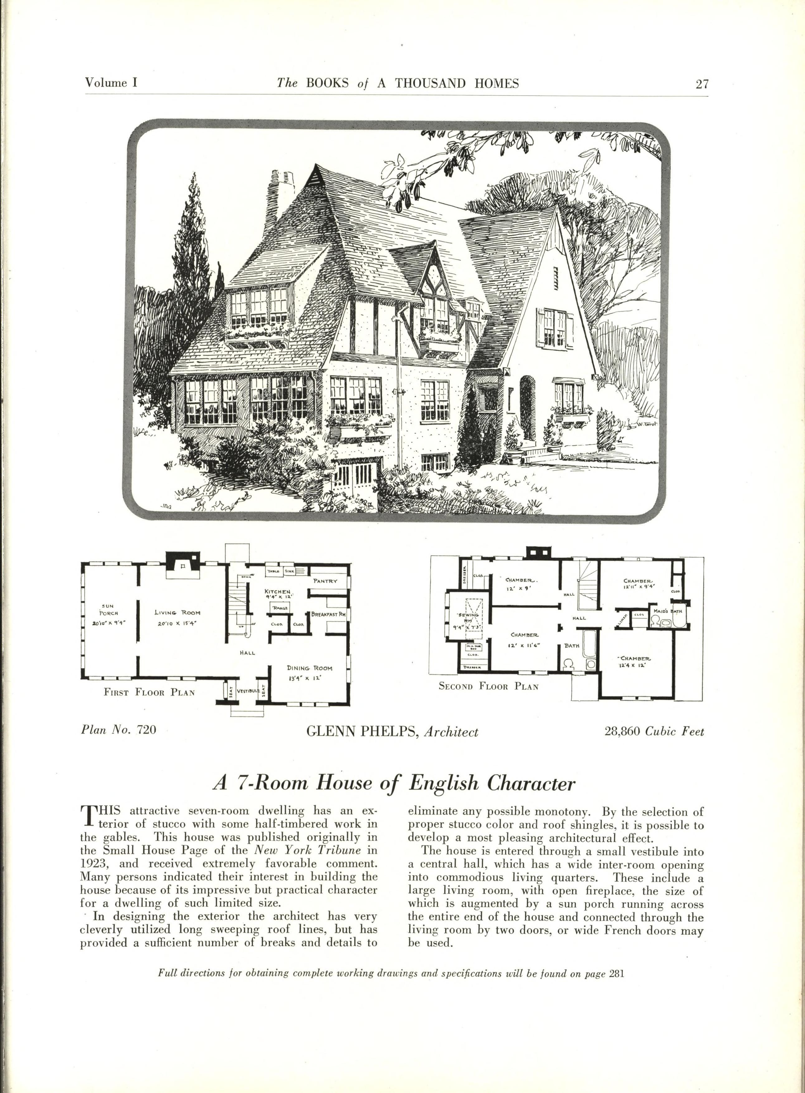 The Books Of A Thousand Homes Vol 1 Vintage House Plans How To Plan House Floor Plans