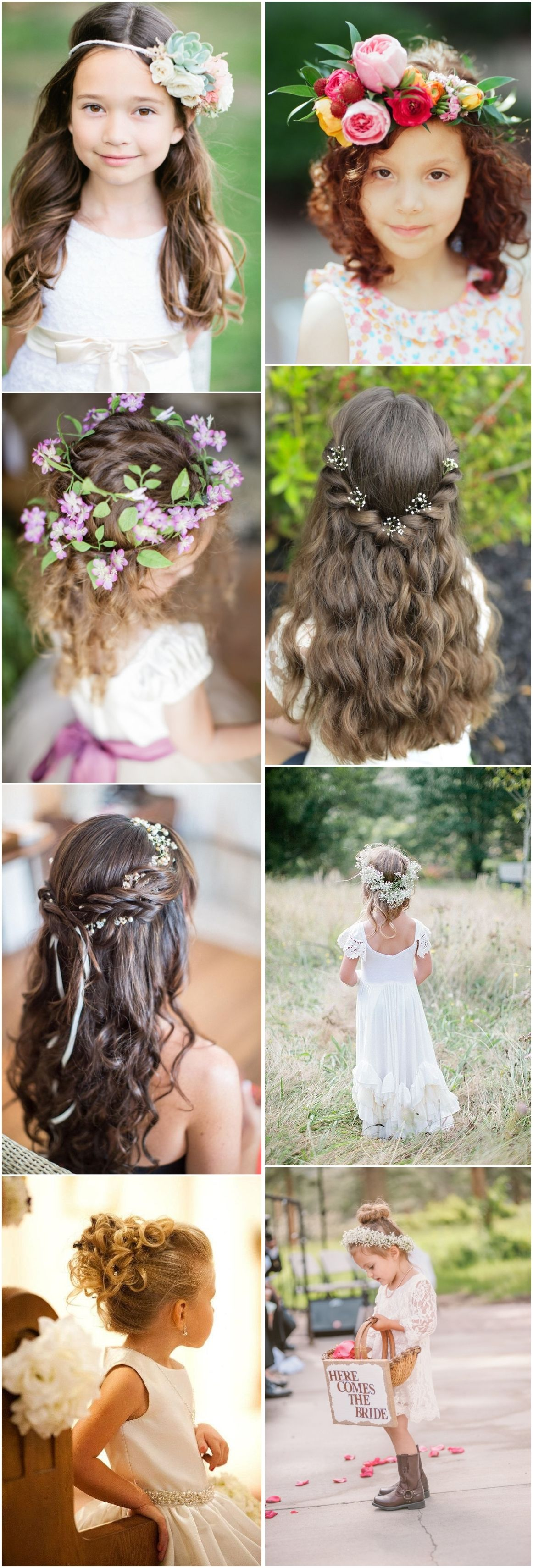 super cute little girl hairstyles for wedding pinterest girl