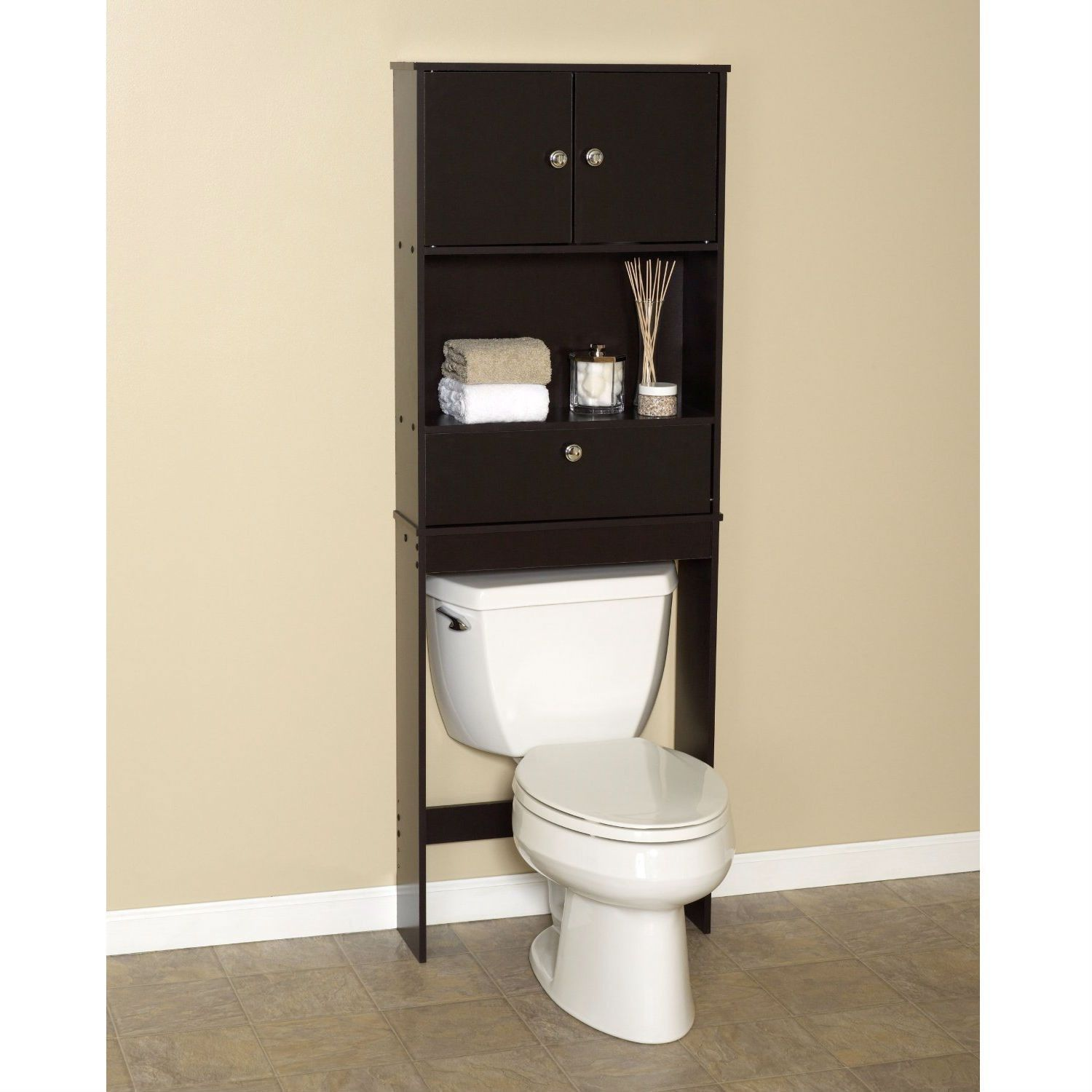 Over the Toilet Bathroom Space Saver Cabinet in Espresso | For the ...